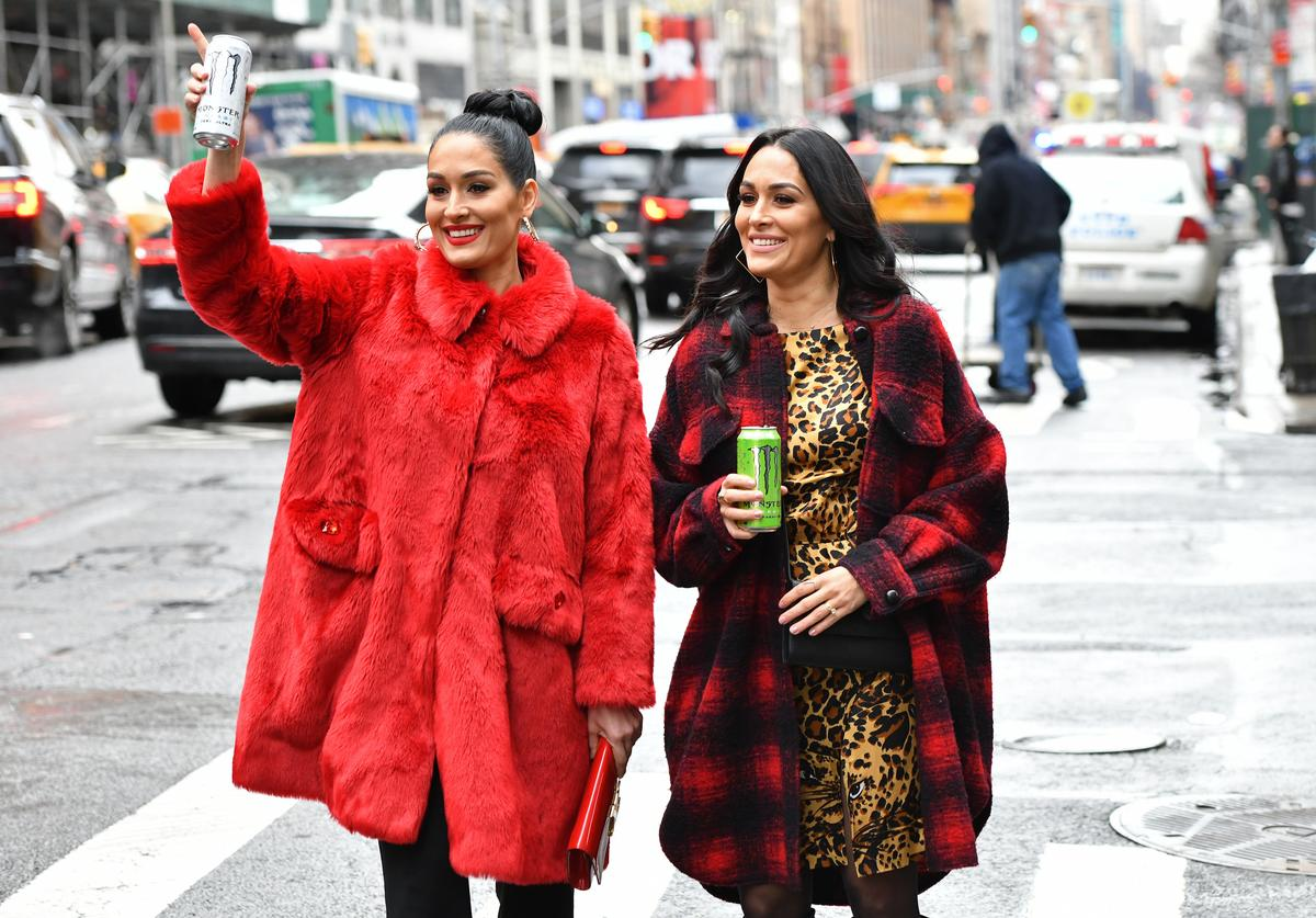 Nikki Bella and Brie Bella announce partnership with Monster Energy on December 11, 2019 in New York City