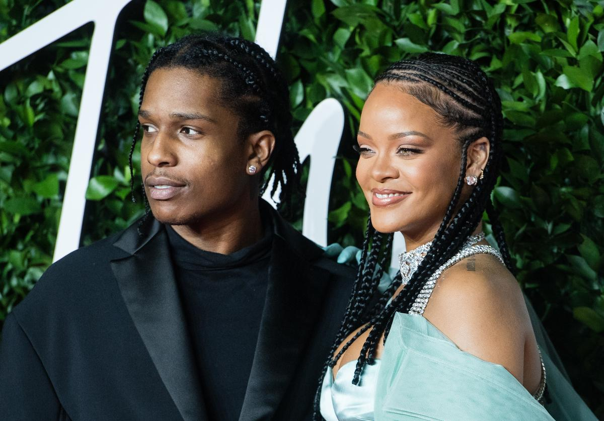 Rihanna and ASAP Rocky arrive at The Fashion Awards 2019 held at Royal Albert Hall on December 02, 2019 in London, England