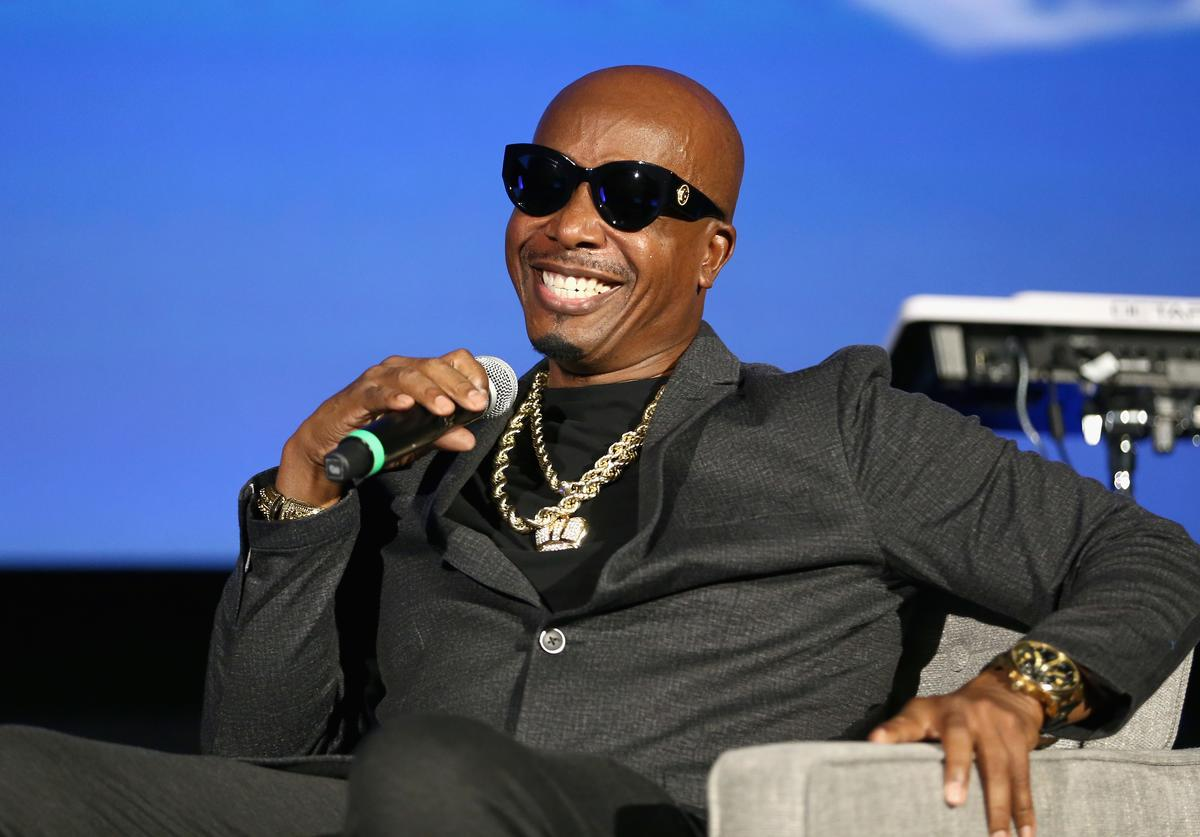 MC Hammer speaks onstage during Capitol Music Group's 5th annual Capitol Congress Premieres (Aug. 2018)