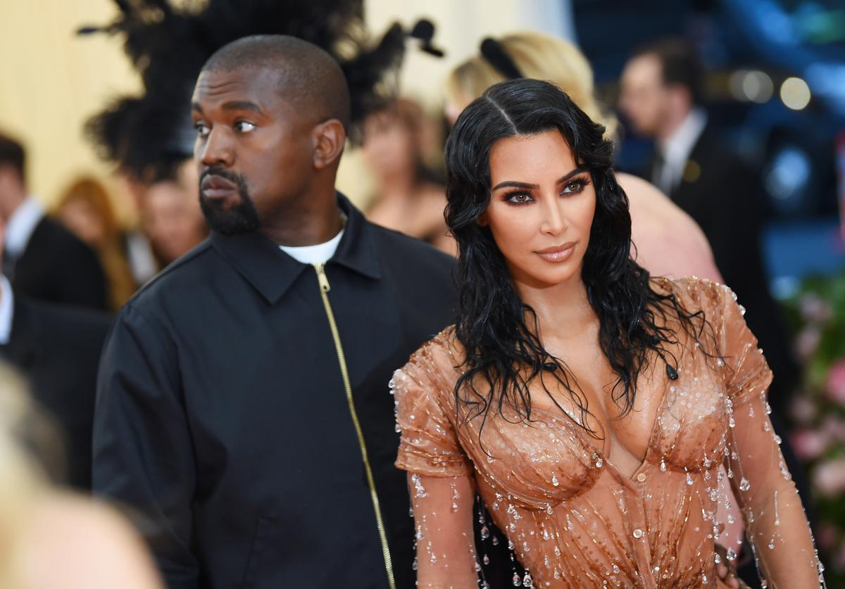 Kim Kardashian West and Kanye West attend The 2019 Met Gala Celebrating Camp (May 2019)