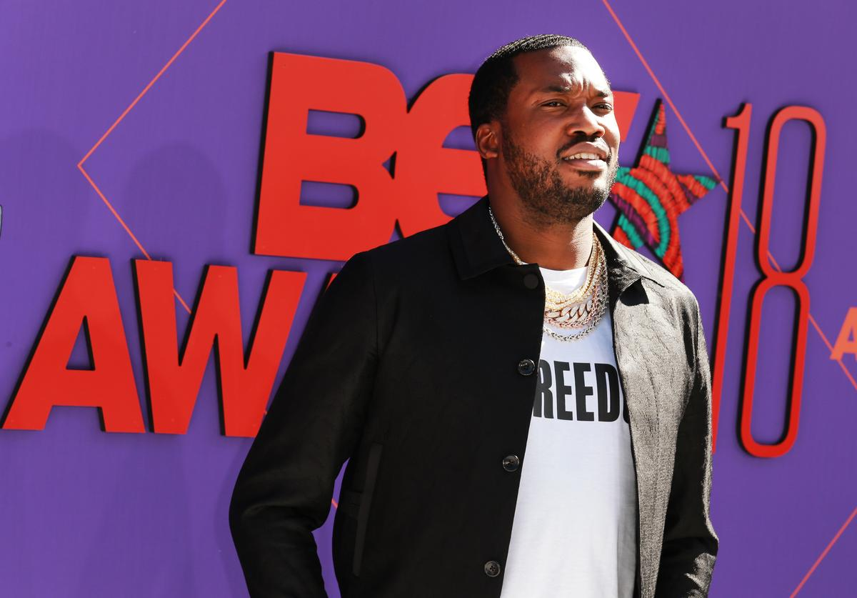 Meek Mill attends the 2018 BET Awards at Microsoft Theater on June 24, 2018 in Los Angeles, California