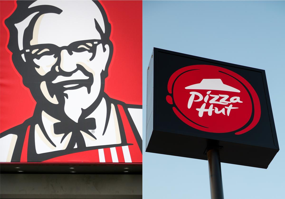KFC sign/Pizza Hut sign