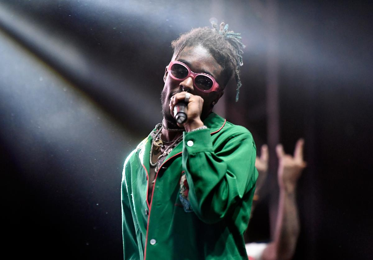 Lil Uzi Vert performs on Flog Stage during day one of Tyler, the Creator's 5th Annual Camp Flog Gnaw Carnival at Exposition Park on November 12, 2016 in Los Angeles, California