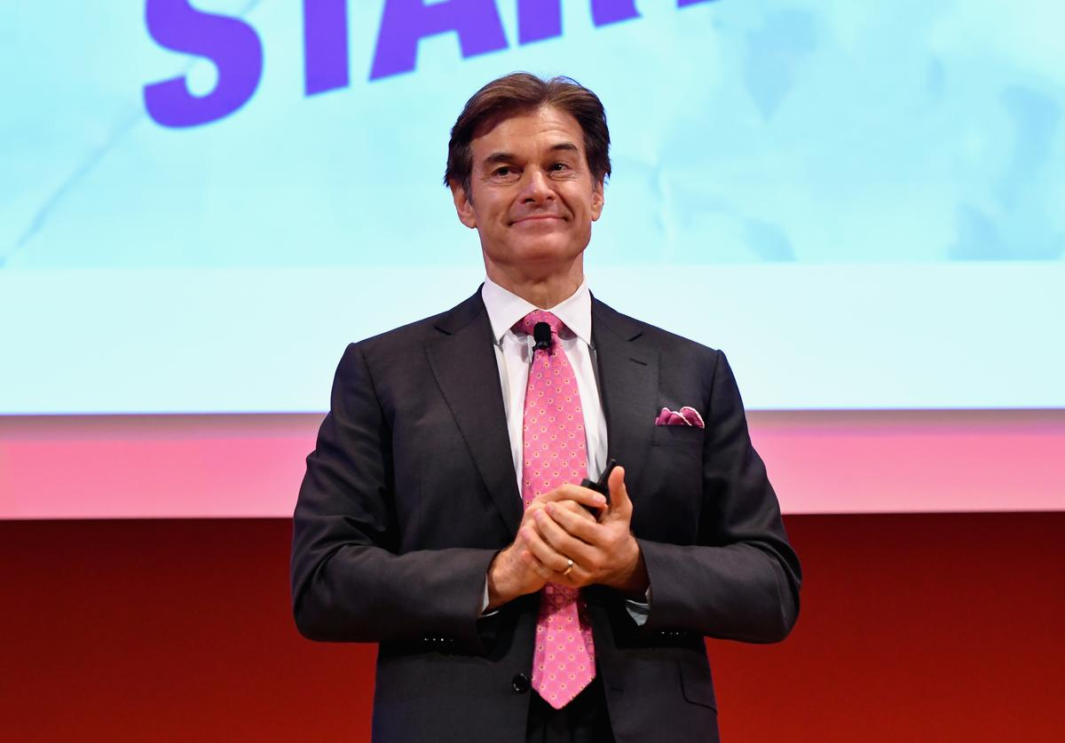 Dr. Mehmet Oz speaks onstage at the Good Health is Good Business panel (Sept 2016)