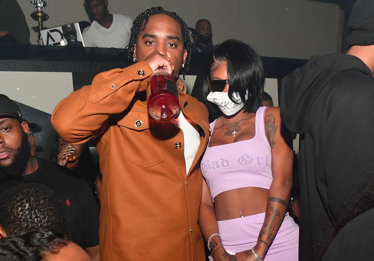 """London On Da Track and Summer Walker attend Summer Walker """"Over It"""" Official Album Release Party at Gold Room on October 13, 2019 in Atlanta, Georgia"""