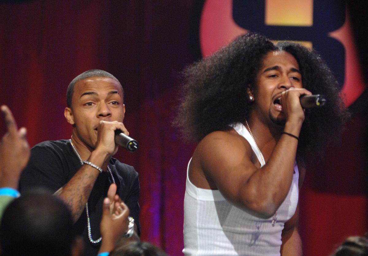 Bow Wow (L) and Omarion performs on a taping of BET 106 & Park on at Bet Studios on December 10, 2007 in New York City