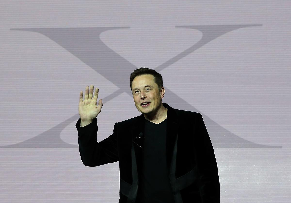 Tesla CEO Elon Musk speaks during an event to launch the new Tesla Model X Crossover SUV (Sept. 2015)