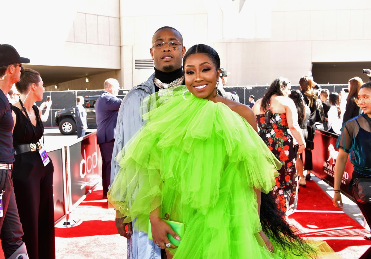 Southside and Yung Miami of City Girls attend the 2019 Billboard Music Awards at MGM Grand Garden Arena on May 1, 2019 in Las Vegas, Nevada