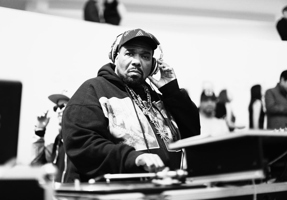 DJ Afrika Bambaataa performs during the 2015 Guggenheim Young Collectors party supported by David Yurman at Guggenheim Museum on March 19, 2015 in New York City. (Photo by Neilson Barnard/Getty Images