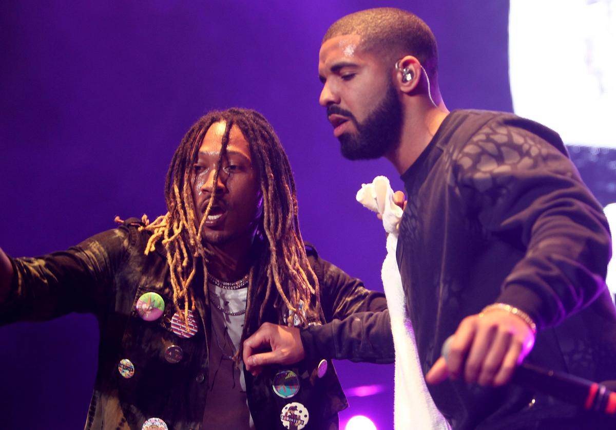 Drake and Future performing together