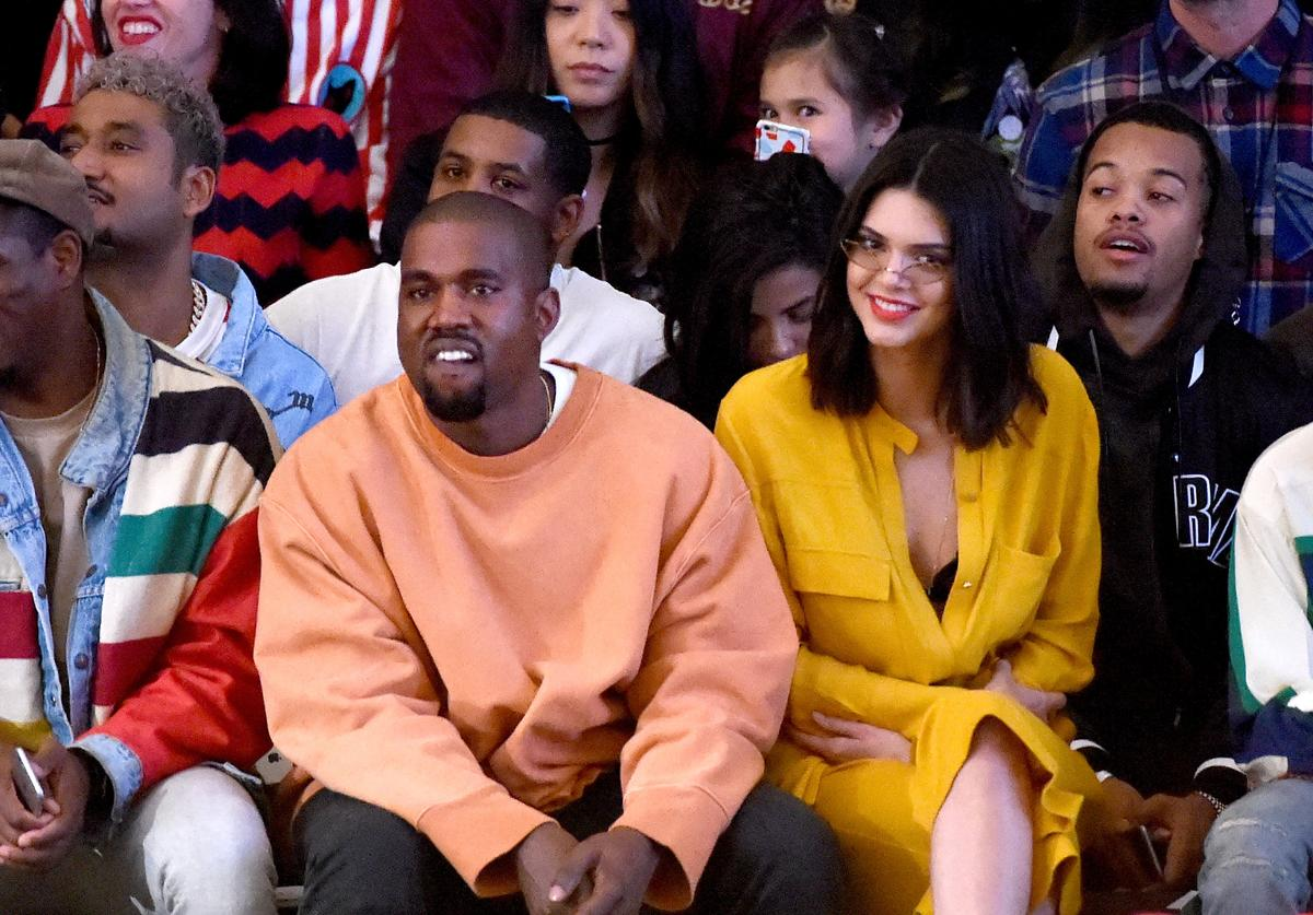 Kanye West with Kendall Jenner