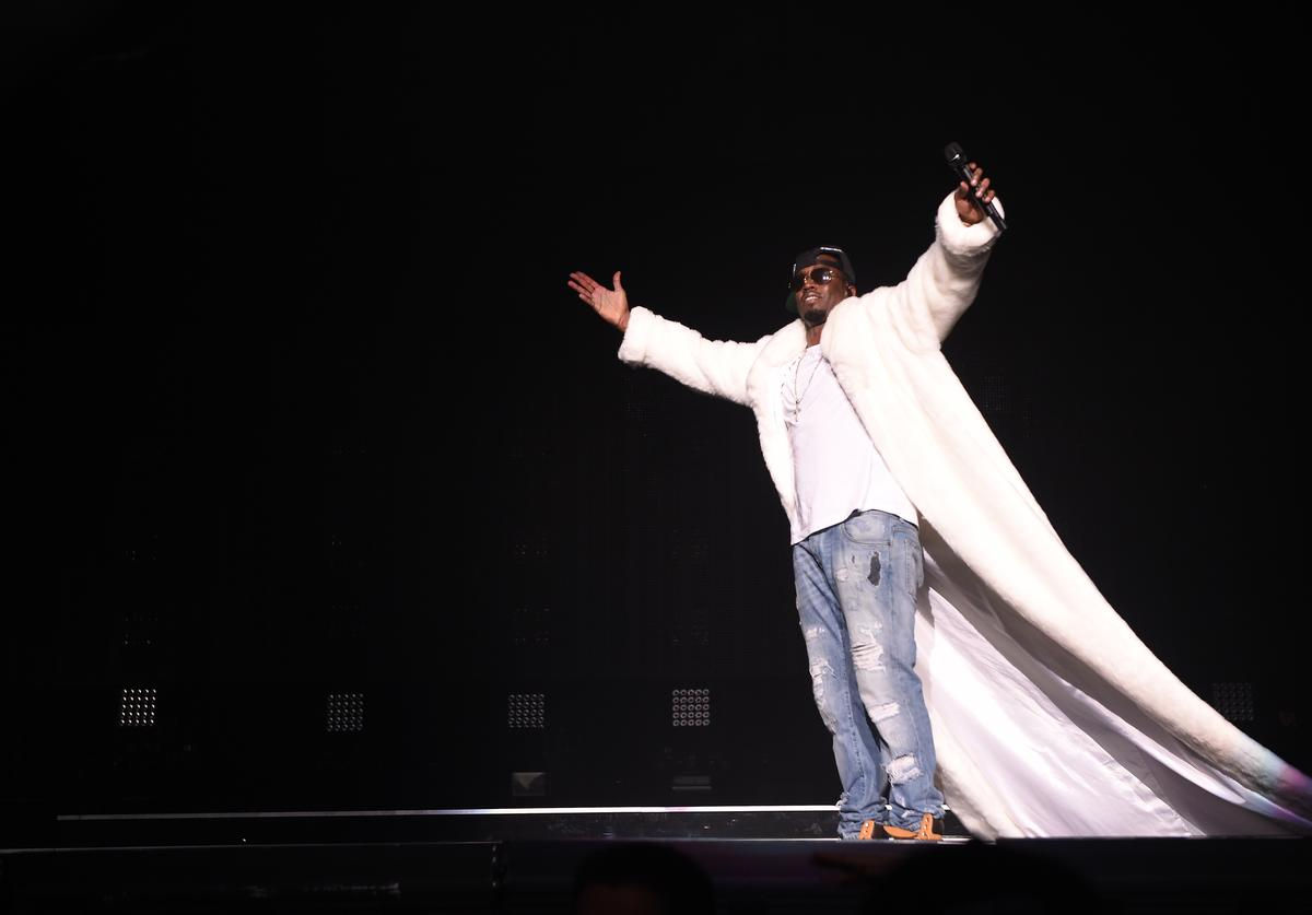Diddy at  Bad Boy Family Reunion Tour At Madison Square Garden