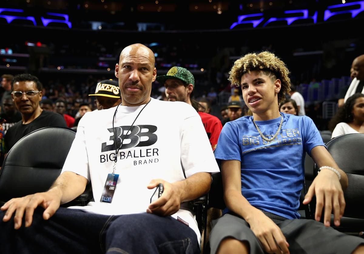 Lavar Ball & Lamelo Ball at Big 3 bball game