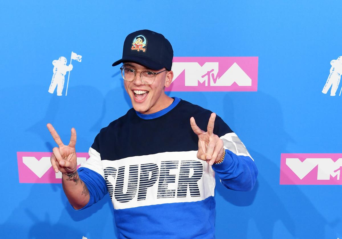 Logic attends the 2018 MTV Video Music Awards at Radio City Music Hall on August 20, 2018 in New York City.