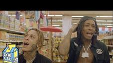 """Wiz Khalifa & Lil Skies Rage In A Grocery Store In The """"Fr Fr"""" Music Video"""