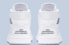 Air Jordan 1 Mid Shares French Message Of Unity: Official Photos