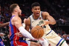 Giannis Antetokounmpo & Blake Griffin Go At It Over Physical Play: Watch