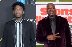"""21 Savage Praised By Shaquille O'Neal As One Of His """"Favorite Guys"""""""