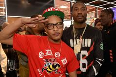 T.I. & Meek Mill Looked Unrecognizable At 21 Savage's 70s-Themed Party