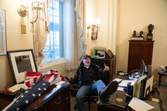 Capitol Hill Rioter Pictured With Feet Up On Nancy Pelosi's Desk Charged