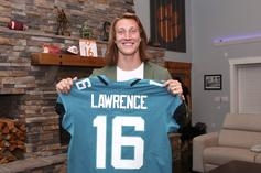 Trevor Lawrence Dons Jaguars Jersey For The First Time