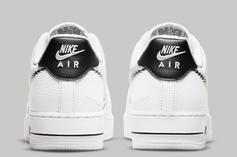 """Nike Air Force 1 Low """"Zig Zag"""" Shown Off In Simple White & Black Colorway"""