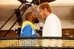 Floyd Mayweather & Logan Paul Link Up For Epic Stare-Down