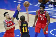 Joel Embiid & Trae Young Engage In Phenomenal Game 1 Battle