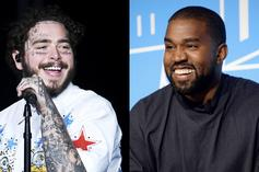 Kanye West & Post Malone Are In The Studio Together Again