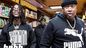 """E-40 & OMB Peezy Have An Accidental Food Fight & Name Their Go-To Drunk Foods On """"Snack Review"""""""