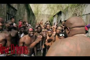 "Rick Ross ""BTS Of ""Hold Me Back"""" Video"