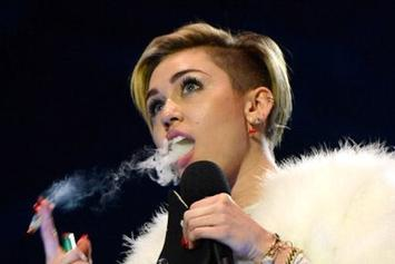 Miley Cyrus Smokes Weed On Stage At MTV EMAs