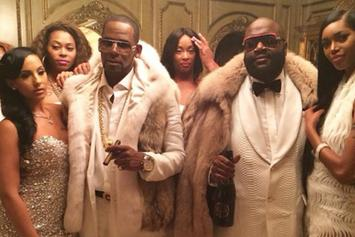 """BTS Photos: Rick Ross & R. Kelly's """"Keep Doing That (Rich Chick)"""" Video Shoot"""
