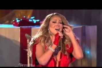"""Mariah Carey Performs """"All I Want For Christmas Is You"""" In Rockefeller Center"""