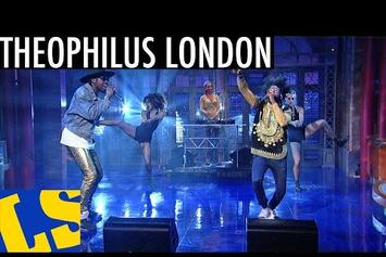 """Theophilus London Performs """"Tribe"""" On Letterman"""