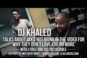 "DJ Khaled Explains Jay Z's Absence In ""They Don't Love You No More"" Video"