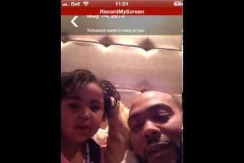 """Timbaland """"Freestyles With His Daughter"""" Video"""