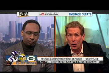 """T.I. """"Vikings VS Packers Prediction On """"First Take"""""""" Video"""