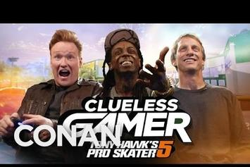 "Lil Wayne & Tony Hawk Star On Conan's ""Clueless Gamer"""