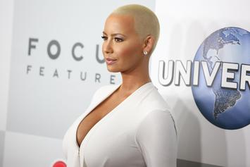 Amber Rose Lets Her Nipple Go Free