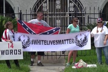 """""""White Lives Matter"""" Protest Emerges Outside Of A Houston NAACP Office"""