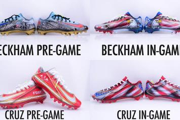 "Check Out These Custom ""9/11"" Nike Cleats For Odell Beckham Jr And Victor Cruz"