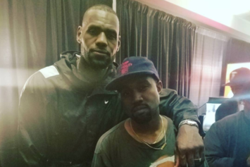 """LeBron James & Other Cavs Were In The """"Moshpit"""" At Kanye West's Cleveland Show"""
