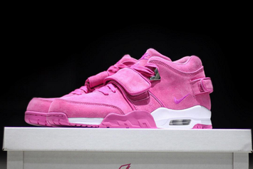 """Victor Cruz And Sneaker Room Auctioning Off Limited Edition """"Pink Fire"""" Nike Air Trainer Cruz"""