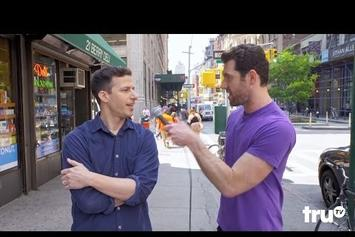 "Watch Andy Samberg & Jon Hamm Trash Hollywood Reboots With ""Billy On The Street"""