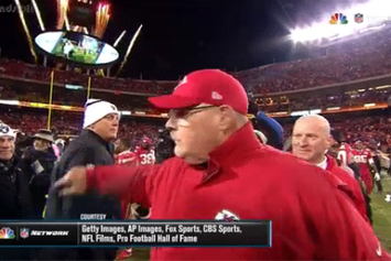 Raiders' Jack Del Rio Gives Andy Reid A Death Stare After Loss To Chiefs