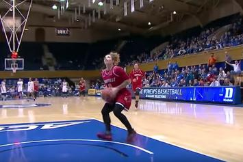 Watch Louisville's Women's Team Trick Duke Into Guarding The Wrong Basket