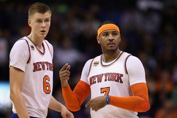 "Phil Jackson Reportedly ""Determined"" To Trade Carmelo Anthony This Season"