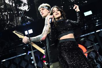"""Machine Gun Kelly And Camila Cabello Perform """"Bad Things"""" On Ellen Show"""
