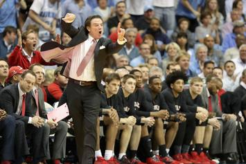 Watch Rick Pitino Try To Go After A Heckling UNC Fan